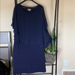 Dresses & Skirts - LAURA Navy dress with overlay size 14.